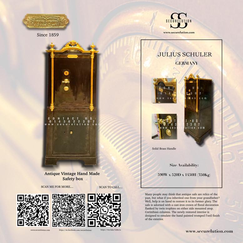 Julius Schuler Antique Safety Box