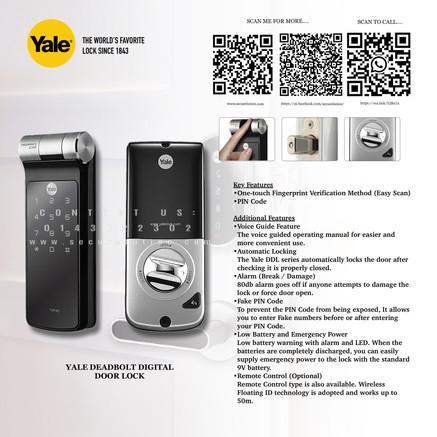 Yale Digital Door Lock YDF40