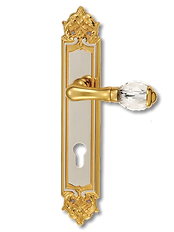 Antique Design Solid Brass On Plate Lever Handle MTRS002