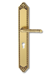 Antique Design Solid Brass On Plate Lever Handle MTRS016