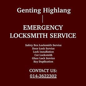 Genting Highland Emergency Locksmith Service