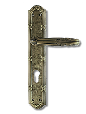 Antique Design Solid Brass On Plate Lever Handle MTRS015