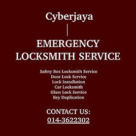 Cyberjaya Emergency Locksmith Service
