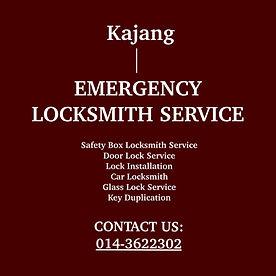 Kajang Emergency Locksmith Service