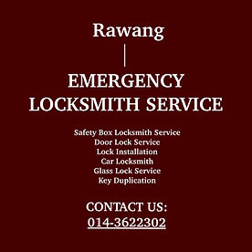 Rawang Emergency Locksmith Service