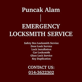 Puncak Alam Emergency Locksmith Service