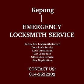 Kepong Emergency Locksmith Service