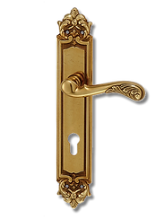 Antique Design Solid Brass On Plate Lever Handle MTRS013