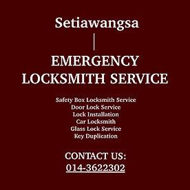 Setiawangsa Emergency Locksmith Service