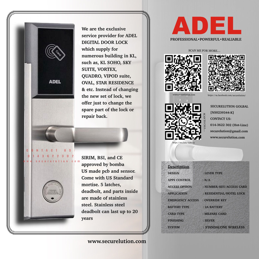 Adel US12 Digital Hotel Lock