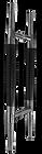 custom made wooden pull handle wph6