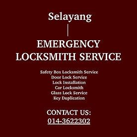 Selayang Emergency Locksmith Service