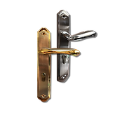 Mobile back plate lever handle mbop7