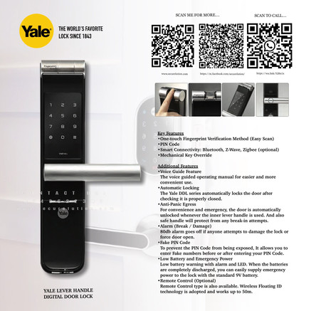 Yale Digital Door Lock YMF40+