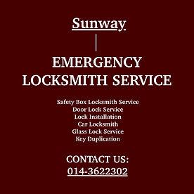 Sunway Emergency Locksmith Service