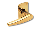 Solid Brass On Rose Lever Handle DL006