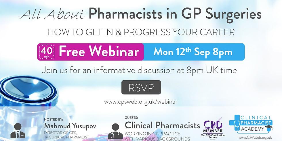 Free Webinar: Career Progression in a GP surgery + Q&A