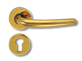 Solid Brass On Rose Lever Handle FRS013