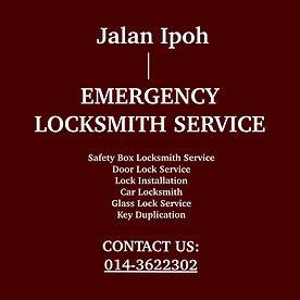 Jalan Ipoh Emergency Locksmith Service