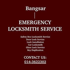 Bangsar Emergency Locksmith Service