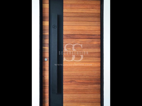 Custom Made Interior Solid Door Design (Kuala Lumpur) Ebony Door