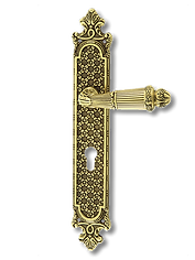 Antique Design Solid Brass On Plate Lever Handle MTRS005
