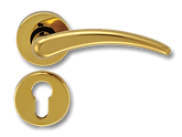 Solid Brass On Rose Lever Handle FRS008