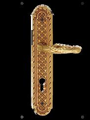 Antique Design Solid Brass On Plate Lever Handle LBR012