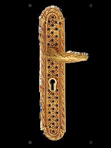 Antique Design Solid Brass On Plate Lever Handle LBR005