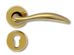 Solid Brass On Rose Lever Handle FRS015