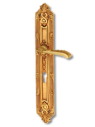 Antique Design Solid Brass On Plate Lever Handle LBR007
