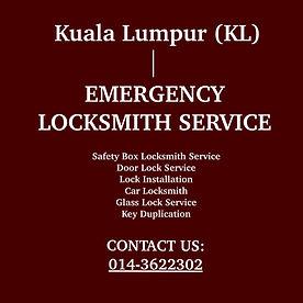 Kuala Lumpur (KL) Emergency Locksmith Service