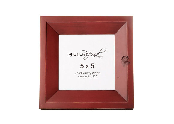 5x5 Haven picture frame - Barn Red
