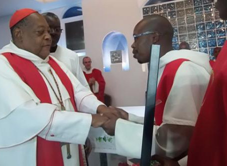 Cardinal Alexandre Do NASCIMENTO makes his commitment in Priestly Fraternities of the Order of Preac