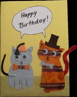Geburtstagskarte Katzen