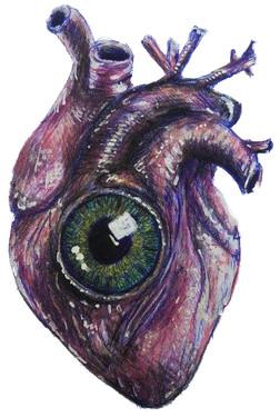 Herz mit Auge