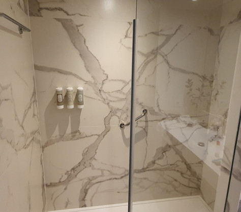 wk composites GRP Fibreglass bathroom FR