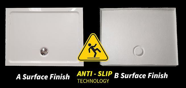 anti slip shower tray A and B surface fi