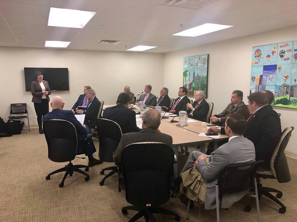 Virginia Secretary of Agriculture & Forestry Bettina Ring addresses the Virginia Rural Caucus