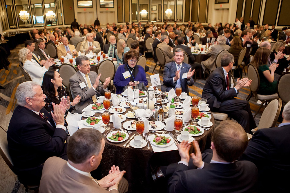 Crowd of attendees at Virginia Rural Caucus Dinner