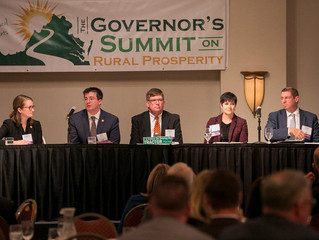 Economic Development Panel at the 2018 Governor's Summit on Rural Prosperity