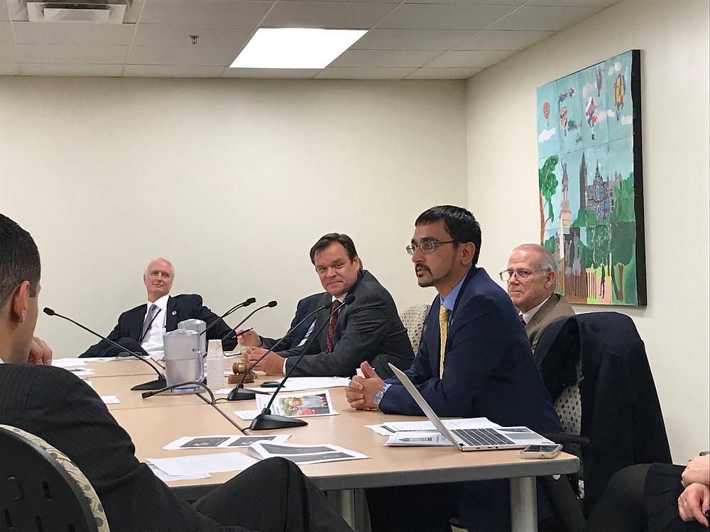 Virginia Secretary of Education Atif Qarni addresses the Rural Caucus