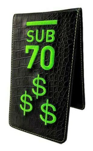 Limited Edition Sub70 Tour Scorecard Yardage Book Holder Cash Is King