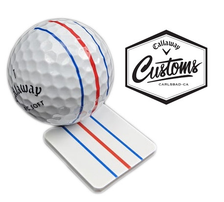 Callaway Golf Tour Issue Customs Triple Track Ball Marker