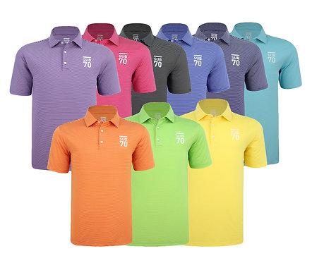 SUB70 Tour Thin Stripe 2.0 Golf Polo Shirt UPF 30+