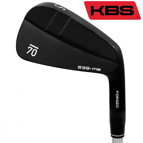Sub70 639 MB Black Forged Irons KBS Shafts
