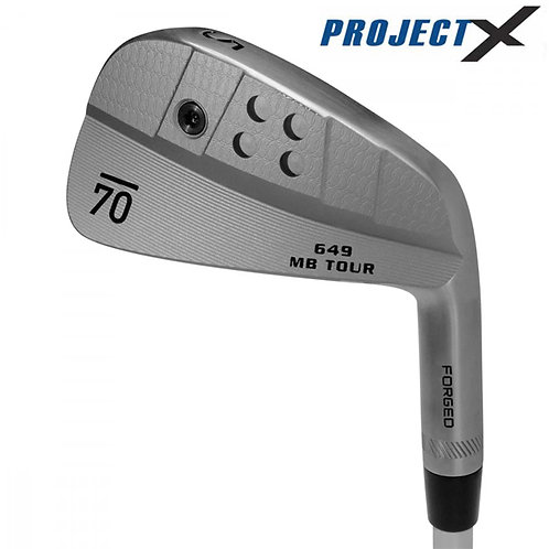 Sub70 649 MB Tour Raw Forged Irons Project X Shafts