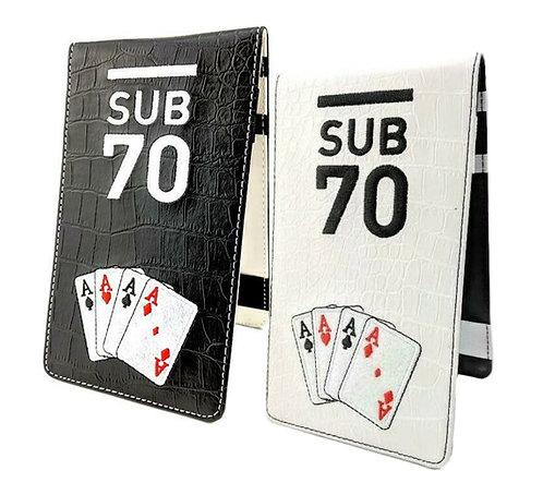 Limited Edition Sub70 Scorecard Yardage Book Holder 4 Of A Kind