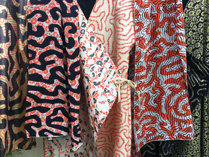 Printed Coral Pattern Textiles