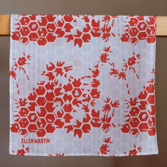 Kyoto Printed Textiles Silk Scarf